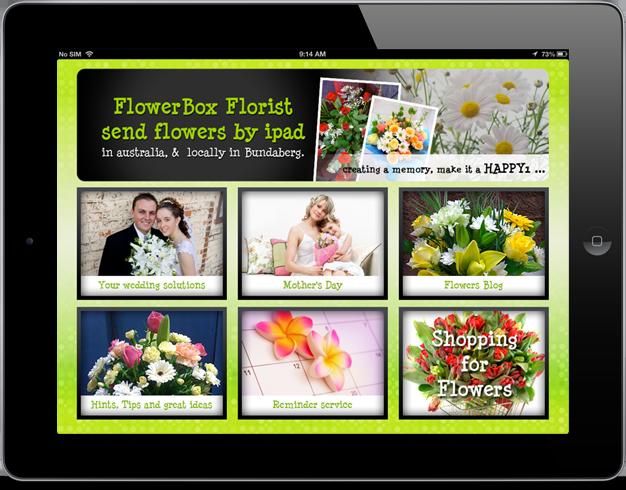 FlowerBoxFlorist iPad app